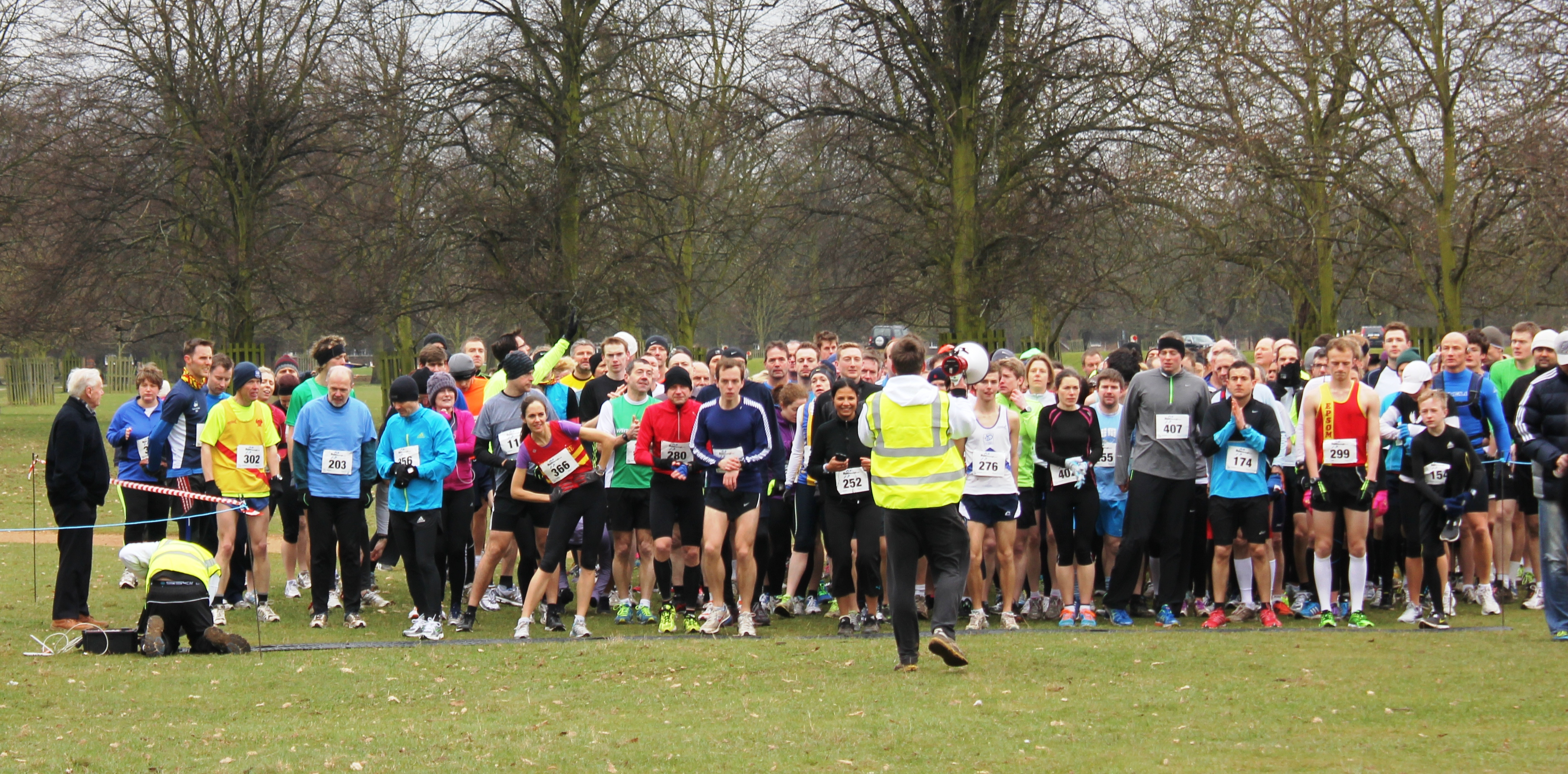 Freezing runners on the start line