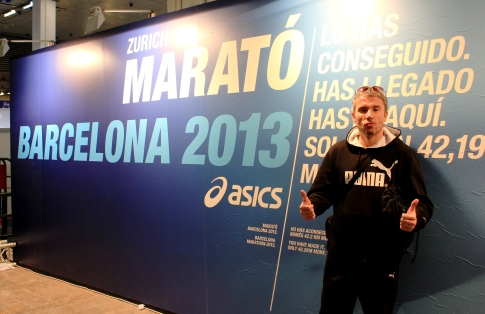 Barcelona marathon expo - Dano