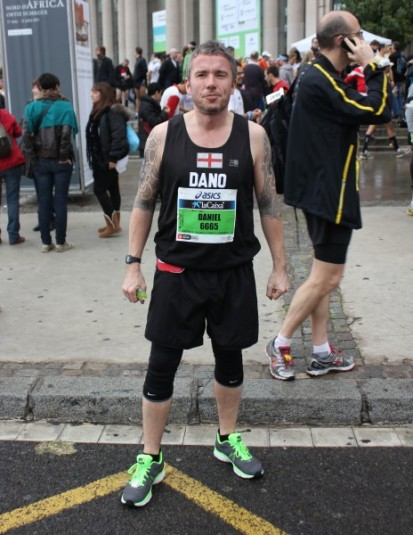 Barcelona marathon start - Dano