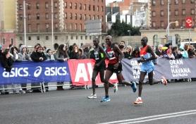 Barcelona marathon elite runners