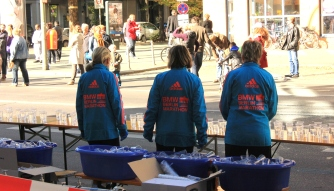 Berlin marathon volunteers