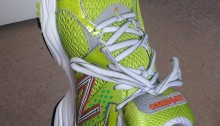 Picture of a runner's shoe