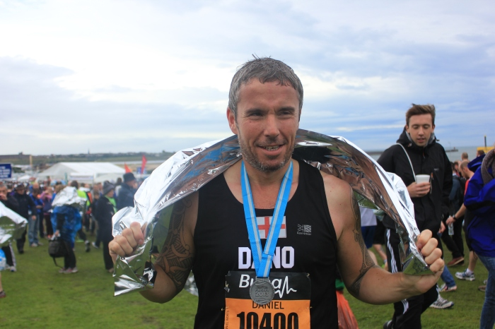 Runner with medal