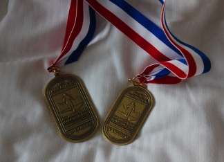Amsterdam marathon medal
