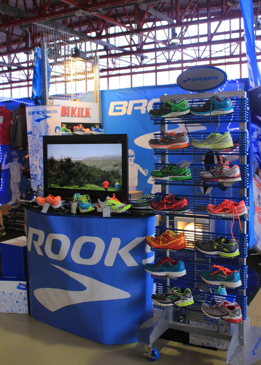 Brooks stand at marathon expo