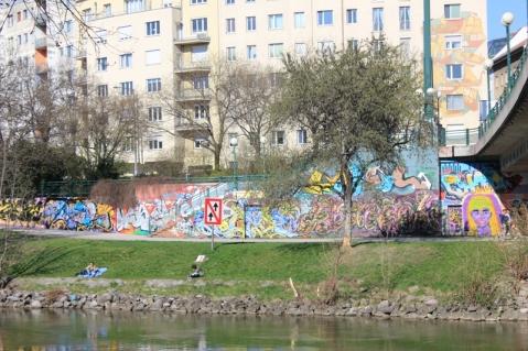 Danube canal graffiti