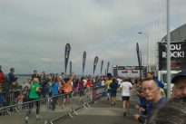 Runners at finish line