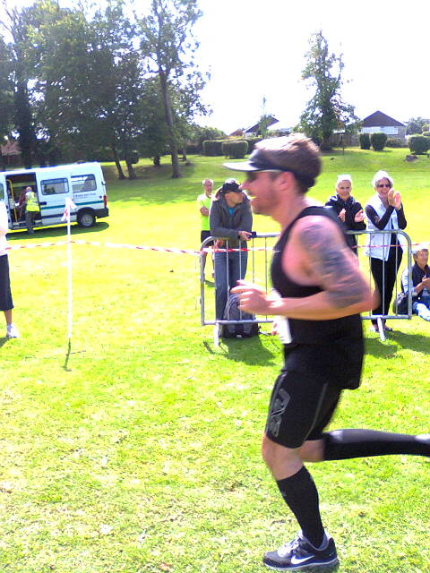 Runner on finish line