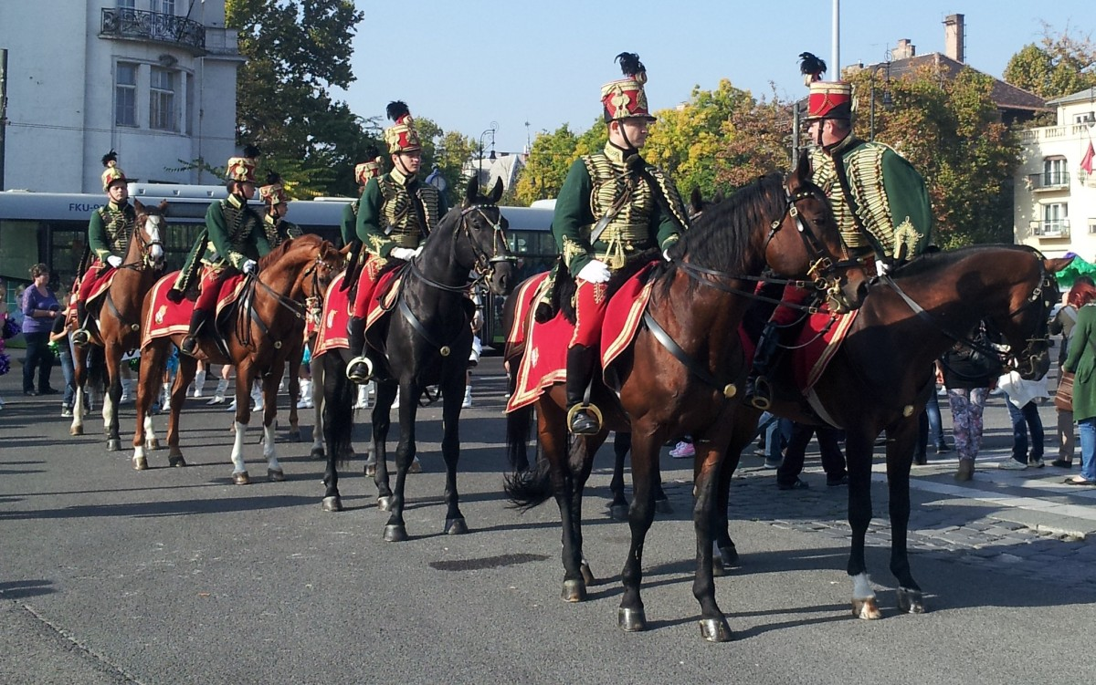 Soldiers on horses