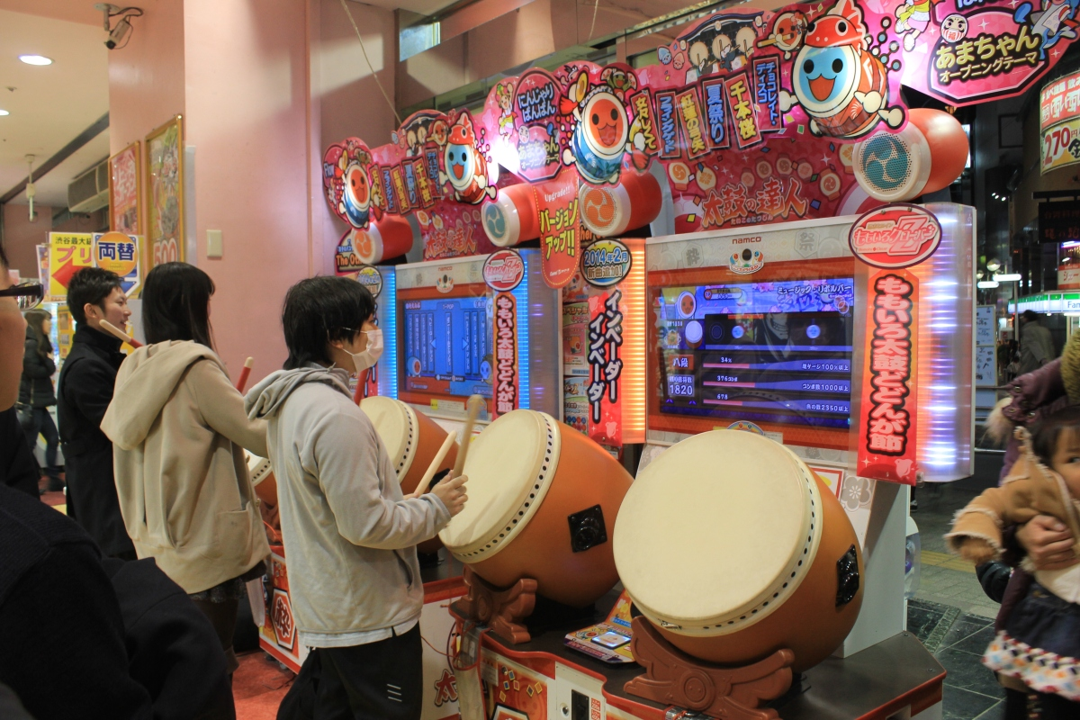 Japanese kid at an arcade