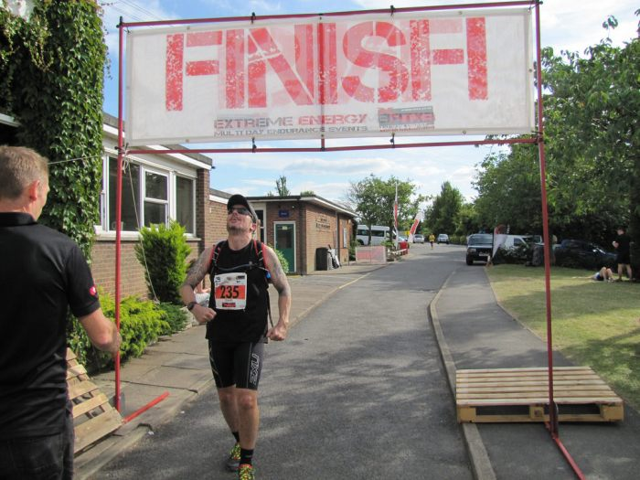 runner at finish line