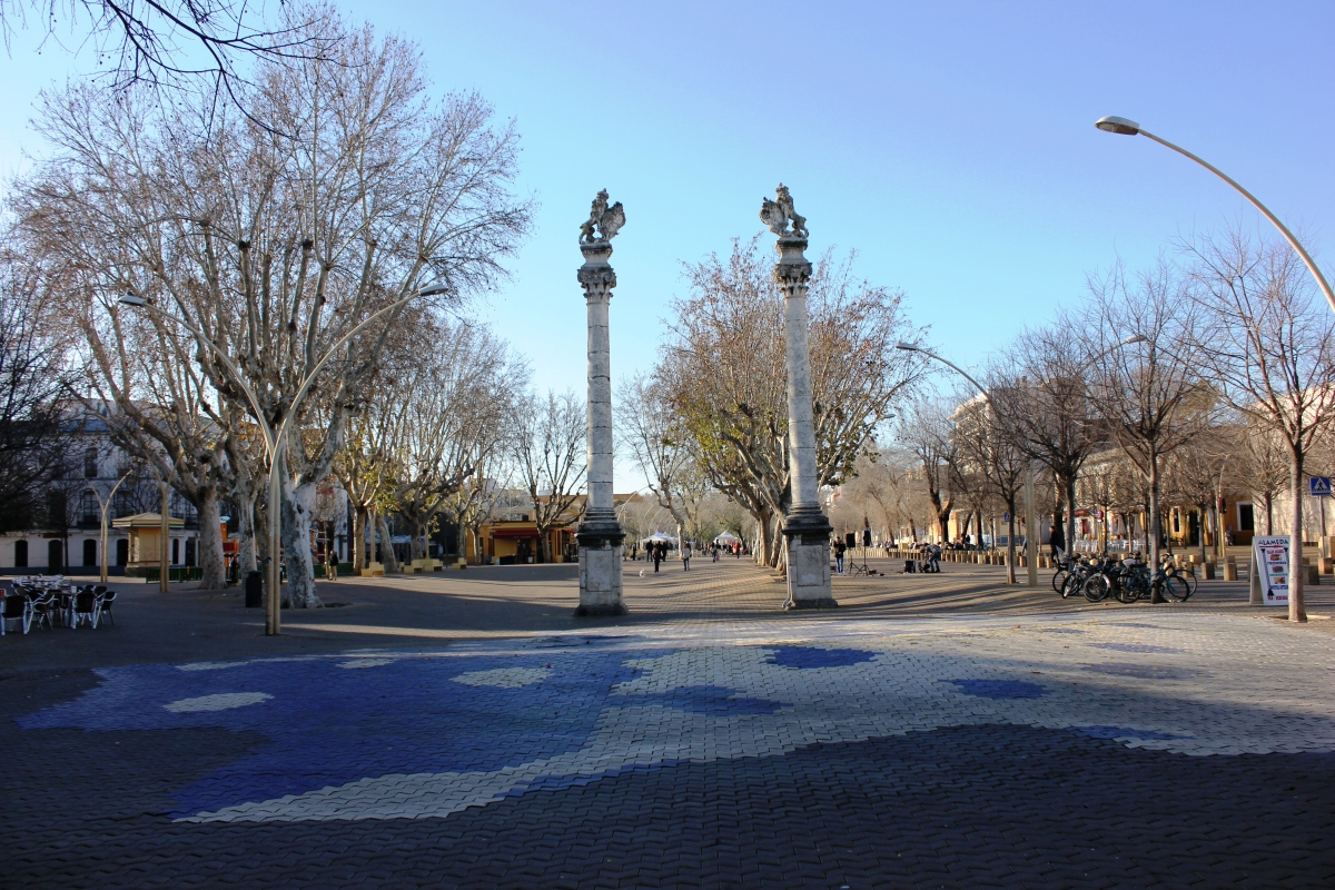 a sevillian plaza