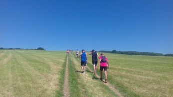Trail runner South Downs