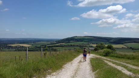 Trail runners South Downs