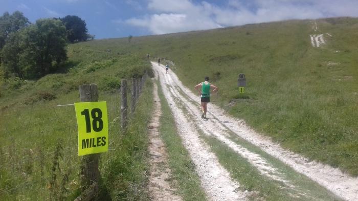 Trail runner South Downs